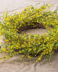 forsythia wreath forsythia flower wreath garland swag balsam hill