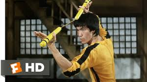 bruce yellow jumpsuit of 6 10 clip dueling nunchakus 1978 hd