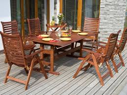 Patio Furniture Dining Sets - furniture dining table teak outdoor furniture with metal legs for