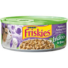friskies selects indoor canned cat food turkey with brown rice