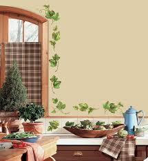 Ivy Kitchen Curtains by Roommates Rmk1219scs Evergreen Ivy Peel U0026 Stick Wall Decals Wall