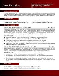 Financial Resume Examples by Planner Resume