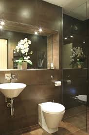 photo of beige brown bathroom ensuite ensuite bathroom with recessed mirror ledge cloakroom ideasbathroom