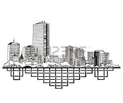 houston tx skyline black and white royalty free cliparts
