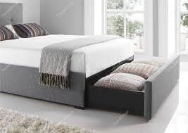 kaydian hexham upholstered storage drawer bed smoke cool