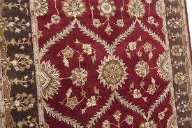 Red Area Rug by Persian Kashan Hand Tufted Wool Red Area Rug