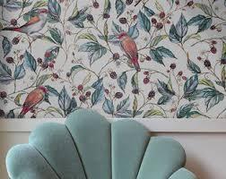 Wallpaper With Birds Bird Wallpaper Etsy