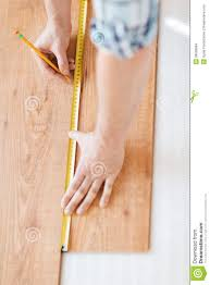 up of measuring wood flooring stock photo image