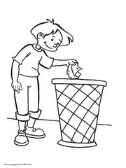 earth day coloring pages recycling