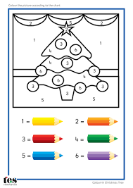 colour by numbers teacch activities christmas by tesautism