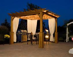 Outdoor Gazebo With Curtains Outdoor Gazebo Lighting Ideas Homesfeed