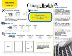 media kit chicago health magazine
