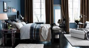 bedroom fabulous modern black and blue bedroom decoration using