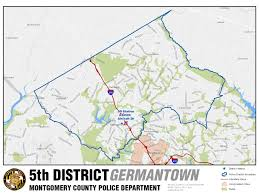 Md County Map Montgomery County Police Districts District Maps