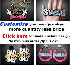 customizable necklace acrylic made laser cutting distinctive customizable statement