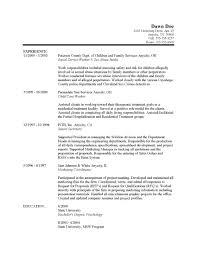 A Proper Resume Example Social Work Resume Examples Berathen Com