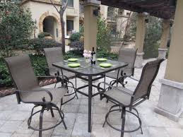 Patio Bar Height Table And Chairs Bar Height Patio Dining Sets To Enjoy Outdoor Table And Chairs Set