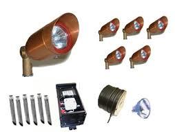 Landscape Lighting Sets Copper Mr16 Low Voltage Accent Lighting Kit 1