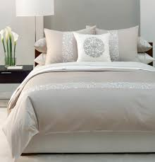 bedroom contempo grey cream bedroom design using single light