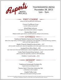 thanksgiving dinner at rupert s rupert s at hotel mccall