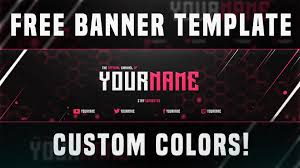 best free youtube banner template 2015 custom colors youtube
