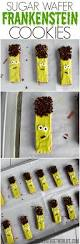 no bake sugar wafer frankenstein cookies for halloween