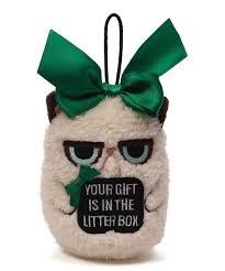 grumpy cat your gift is in the litter box mini ornament zulily