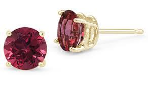 ruby stud earrings ruby stud earrings 14k yellow gold