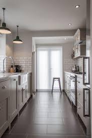 wood prestige statesman door walnut galley kitchen design ideas
