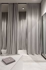 fitting room drapes installation reference retail design