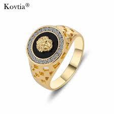 aliexpress buy gents rings new design yellow gold kovtia new design gold color men rings king pattern charm men