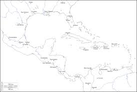 Central America And The Caribbean Map by Central America Free Map Free Blank Map Free Outline Map Free