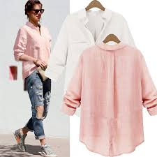blouse button zanzea womens fashion casual linen buttons sleeve