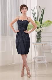 navy blue plain sheath sleeveless zip up knee length ruching
