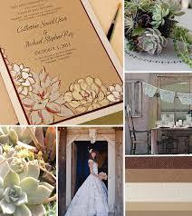 Succulent Wedding Invitations Cream And Brown Succulent Wedding Invitation Inspirationmomental