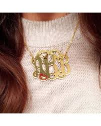 acrylic monogram necklace get the deal large 2 gold mirror acrylic monogram necklace