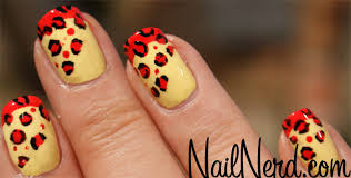 nail nerd nail art for nerds red u0026 yellow leopard nails