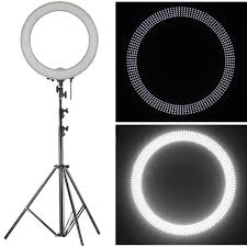 best led ring light amazon com neewer 18 led ring light dimmable for camera photo