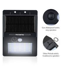 amazon com victsing 20 led solar motion sensor lights super