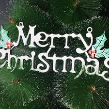 merry christmas words ornament pendant wall door xmas tree hanging