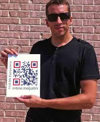 Meme Qr Code - qr code social media partnership between justin wilson and meet