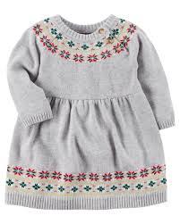 fair isle sweater dress fair isle sweater dress carters com