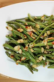 garlic roasted green beans with almonds emily bites