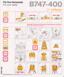 safety card lufthansa b747 400 1 front safety card pinterest