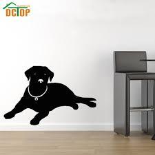 Home Decor Europe Aliexpress Com Buy Lying Labrador Wall Sticker Europe Home Decor