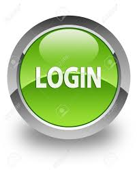 Login Login Icon On Glossy Green Round Button Stock Photo Picture And