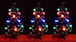 3ft fibre optic black christmas tree with led transparent bauble