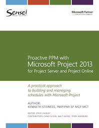 proactive ppm with microsoft project 2013 for project server and