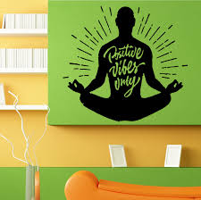 Lotus Flower Wall Decal Om by Positive Vibes Only Lotus Yoga Pose Om Meditation Wall Sticker