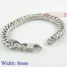 hand bracelet men images Gokadima 8mm width cool clasp mens stainless steel chains jpg